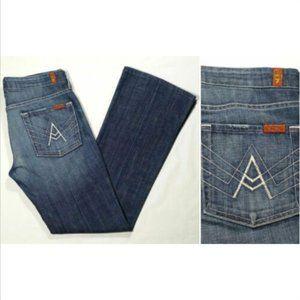 "7FAM Size 27 x 30 Bootcut Jeans ""A"" Pocket 1769E1M"